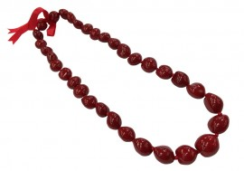 Kukui Nut Necklace - Red