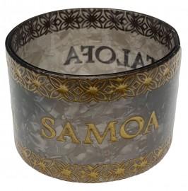 Samoan Style Faux Turtle Shell Bracelet - Grey