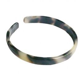 White/Black Turtle Shell Bracelet - 1.0cm - Adult Size